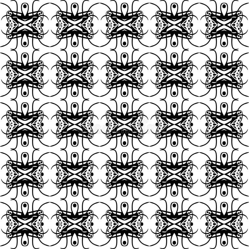 Modelo geométrico monocromático inconsútil ilustración del vector