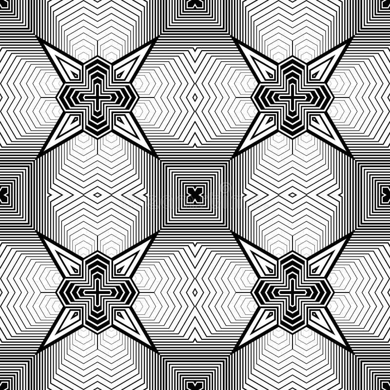 Modelo geométrico monocromático inconsútil del diseño libre illustration