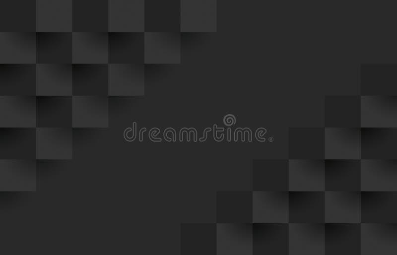 Modelo geométrico negro, plantilla abstracta del fondo libre illustration