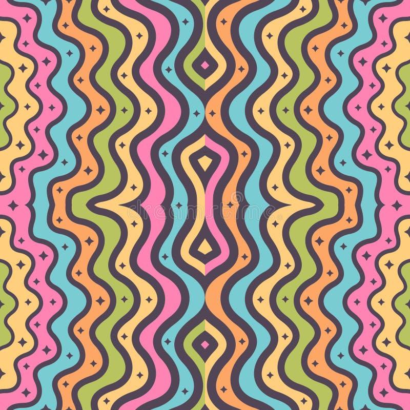 Modelo geométrico pelado inconsútil abstracto para el diseño de la materia textil libre illustration
