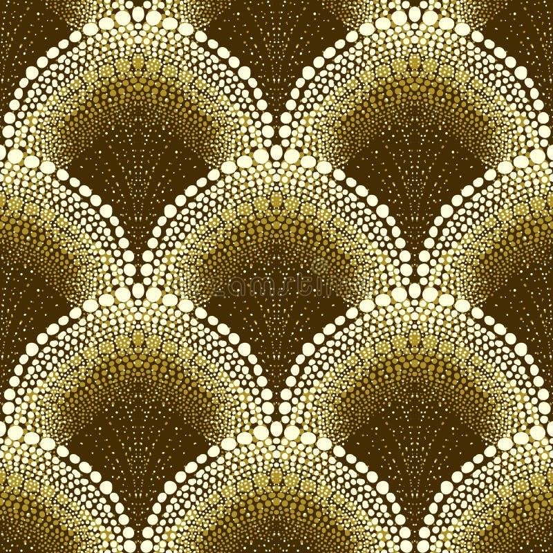 Modelo geométrico punteado en estilo del art déco ilustración del vector