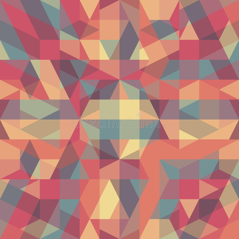 Modelo geométrico retro abstracto stock de ilustración