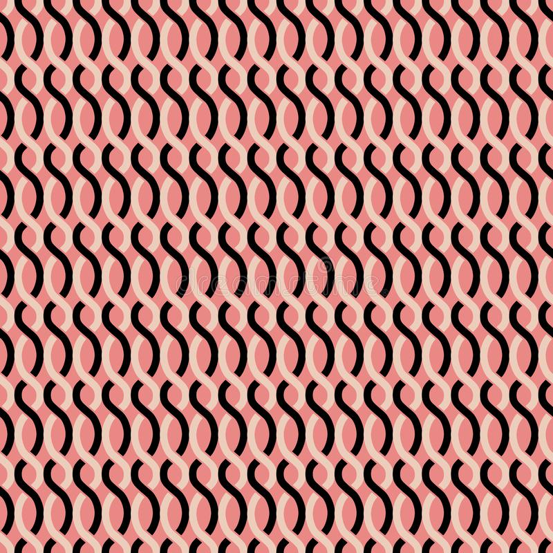 Modelo geométrico retro abstracto inconsútil libre illustration