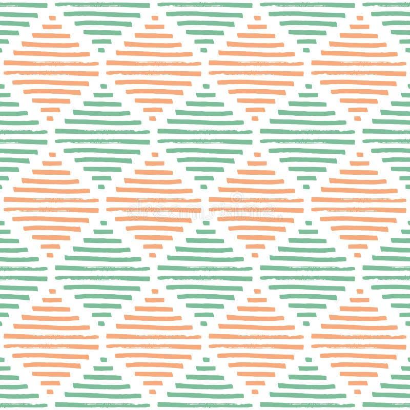 Modelo geométrico simple Colores de la menta, beige y blancos vendimia libre illustration