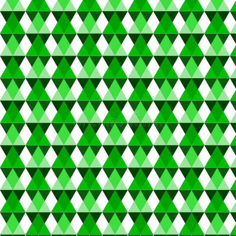 Modelo geométrico verde del vector ilustración del vector