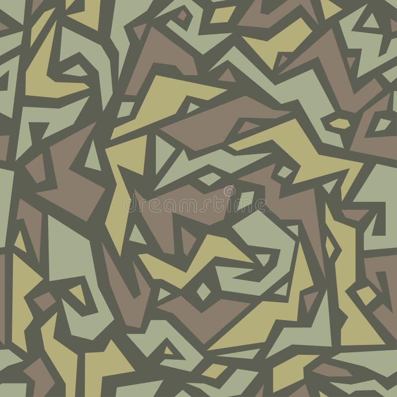 Modelo geom?trico de moda del camuflaje en estilo ?tnico Ornamento del camo de la tribu, textura inconsútil Fondo africano del ad ilustración del vector