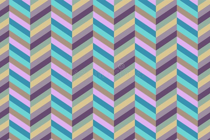 Modelo geom?trico incons?til con zigzags Se puede utilizar en materias textiles, para el dise?o del libro, el fondo del Web site stock de ilustración