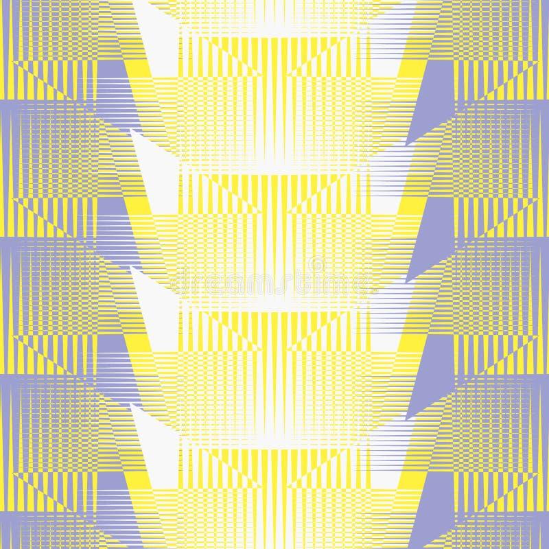 Modelo geom?trico retro abstracto incons?til Rectángulos y líneas mezclados en la disposición vertical y horizontal ilustración del vector