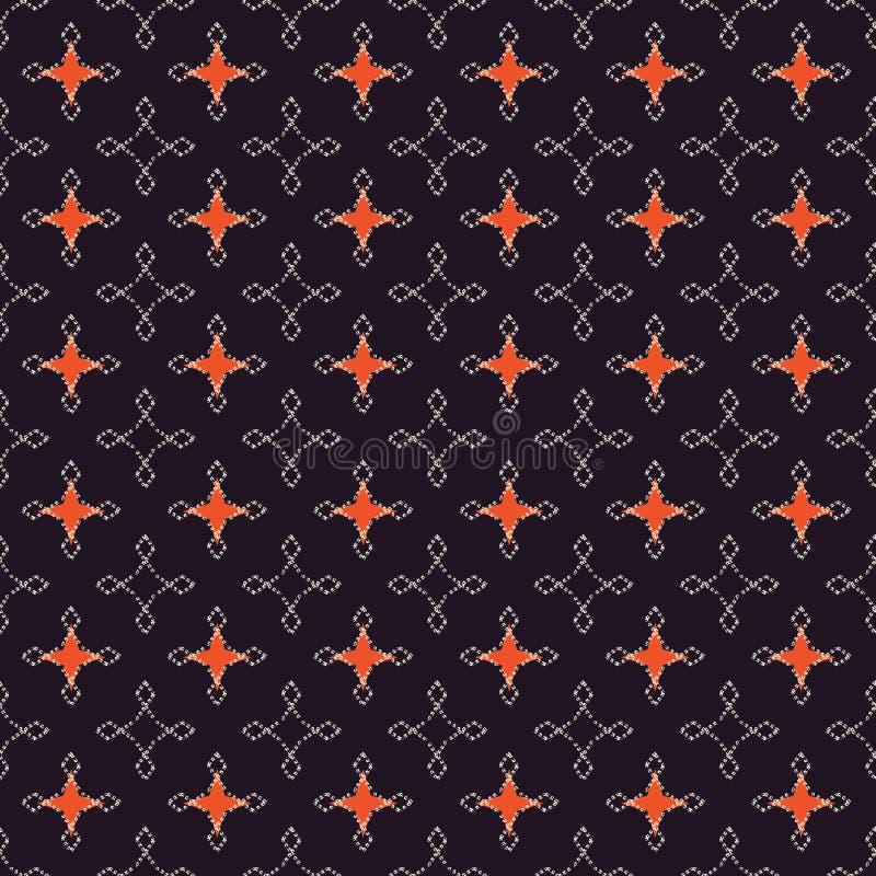Modelo geom?trico retro abstracto incons?til Rect?ngulos mezclados y estrellas en la disposici?n vertical y horizontal libre illustration