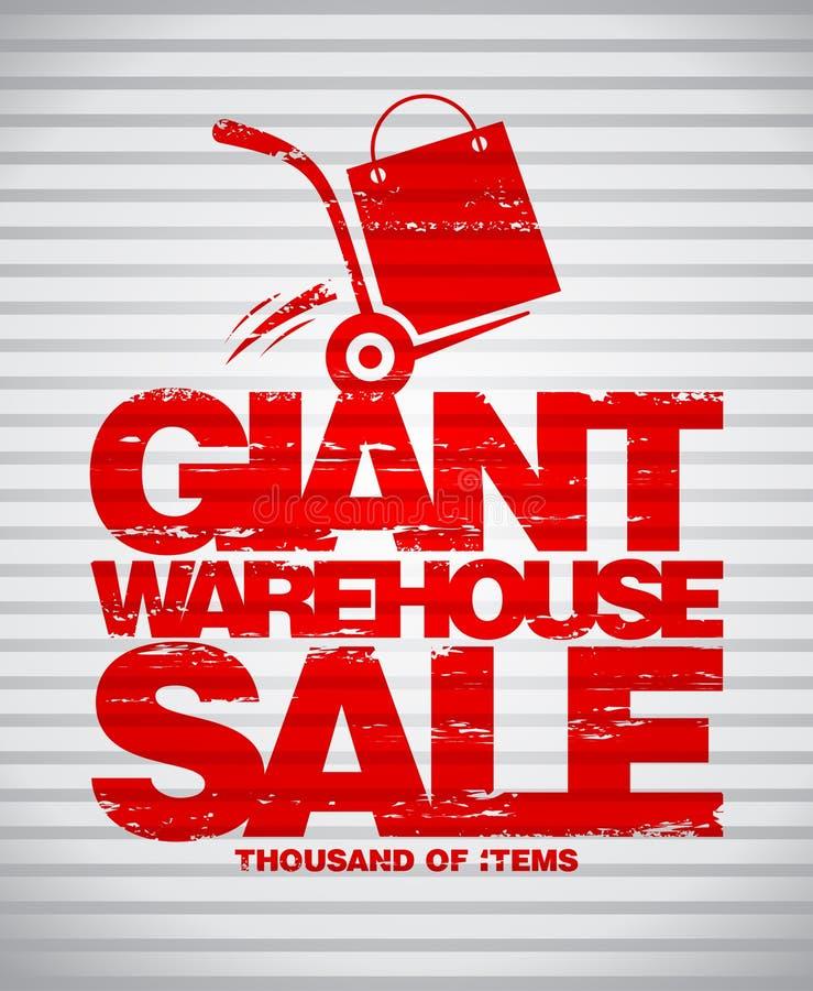 Modelo gigante del diseño de la venta del almacén stock de ilustración
