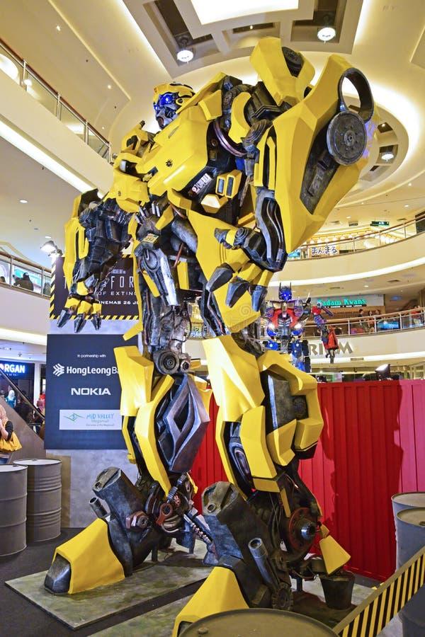 Modelo gigante do zangão dos transformadores fotografia de stock royalty free