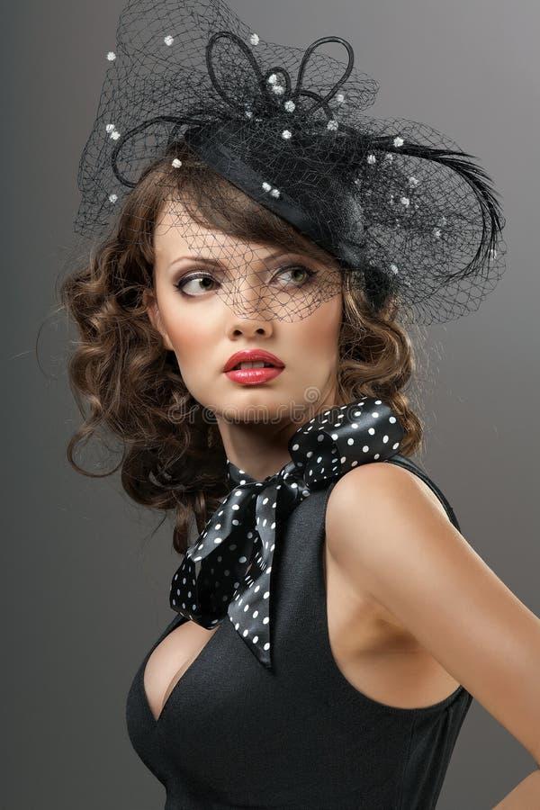 Modelo glamoroso foto de stock