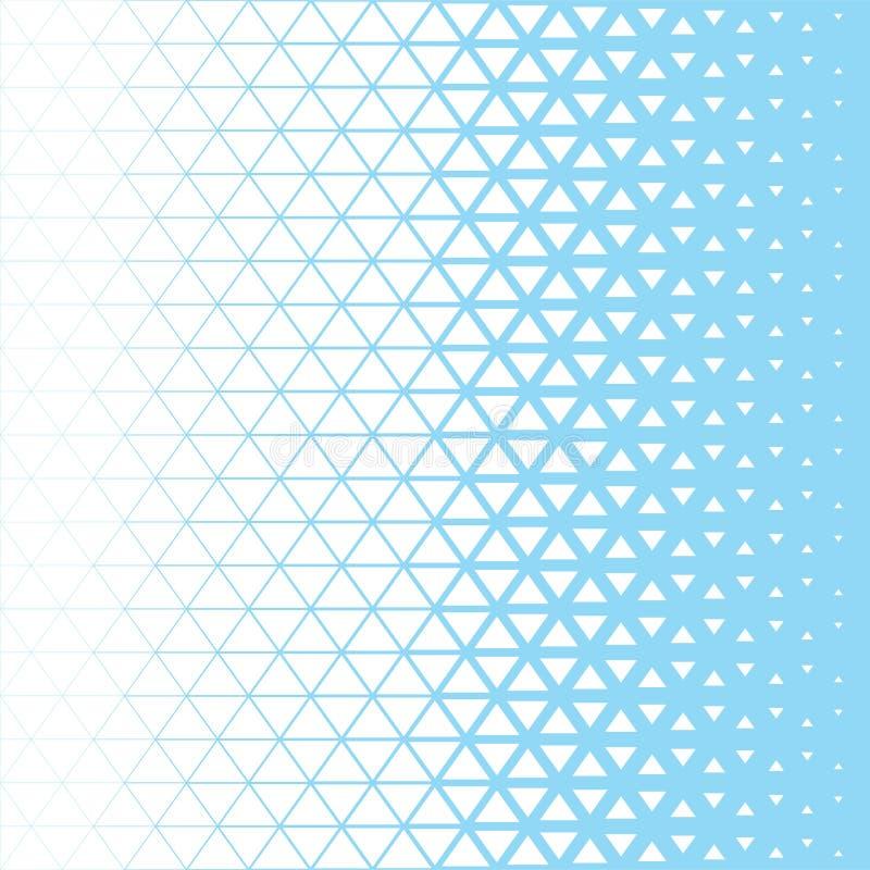 Modelo gráfico azul y blanco del polígono abstracto del triángulo ilustración del vector