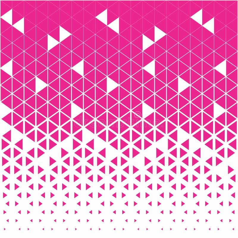 Modelo gráfico ciánico y blanco del polígono abstracto del triángulo stock de ilustración