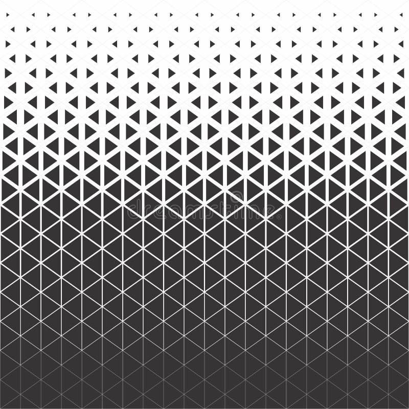 Modelo gráfico negro y ciánico del polígono abstracto del triángulo libre illustration