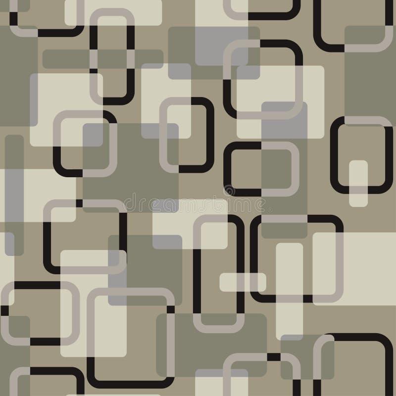 Modelo gris-coloreado vitage inconsútil abstracto de los cuadrados del vector ilustración del vector