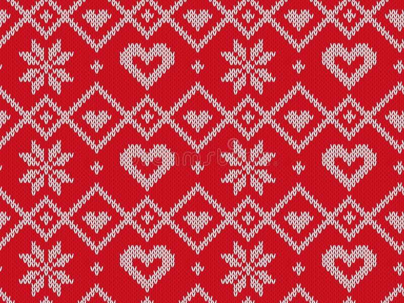 Modelo hecho punto inconsútil de las vacaciones de invierno Fondo del vector para la Feliz Navidad y nuevo Yeary feliz Ilustració ilustración del vector
