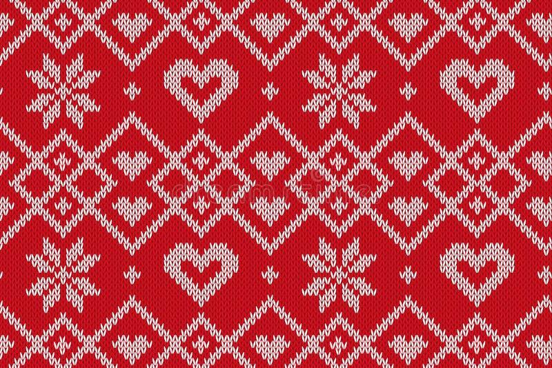 Modelo hecho punto inconsútil de las vacaciones de invierno Fondo del vector para la Feliz Navidad y nuevo Yeary feliz Ilustració libre illustration