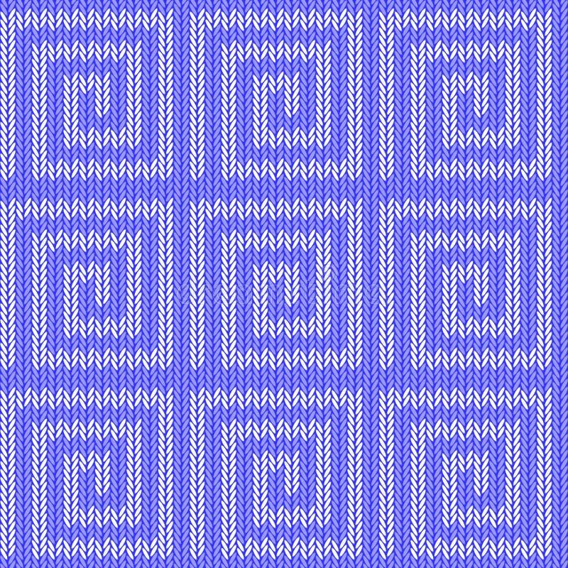 Modelo hecho punto laberinto azul inconsútil del diseño. Th ilustración del vector