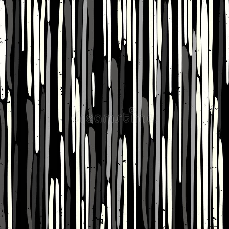 Modelo hermoso de la pintada en un vector negro del fondo ilustración del vector