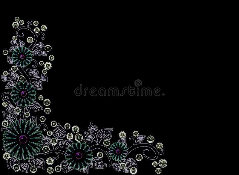 Modelo hermoso en un fondo negro ilustración del vector