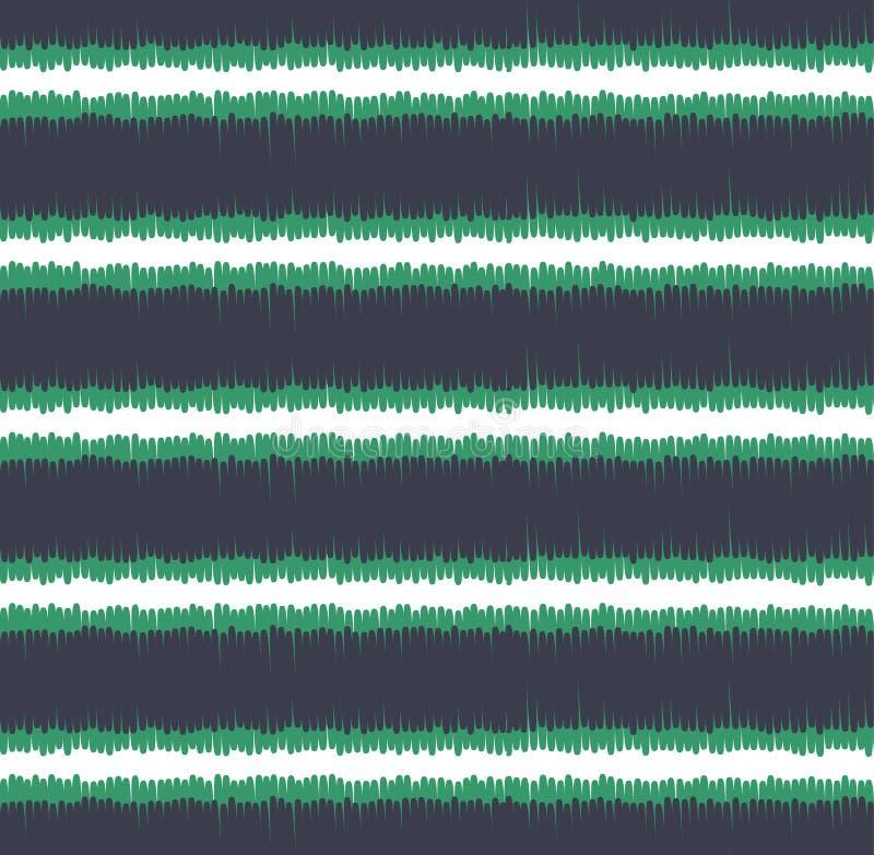 Modelo horizontal de las rayas del garabato inconsútil ilustración del vector