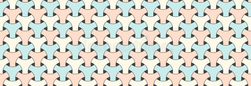 Modelo horizontal del modelo del vector geométrico inconsútil de los escritos para del pijama los escritos del color en colores p ilustración del vector