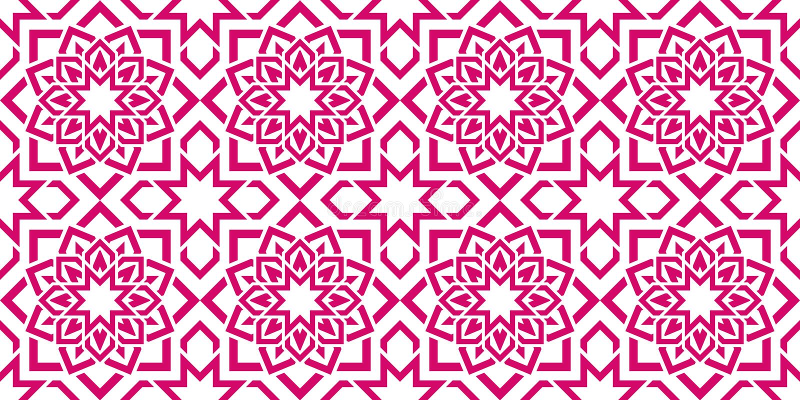 Modelo inconsútil árabe Fondo geométrico islámico Textura del este del vector Florece elementos de la decoración Diseño ornamenta ilustración del vector