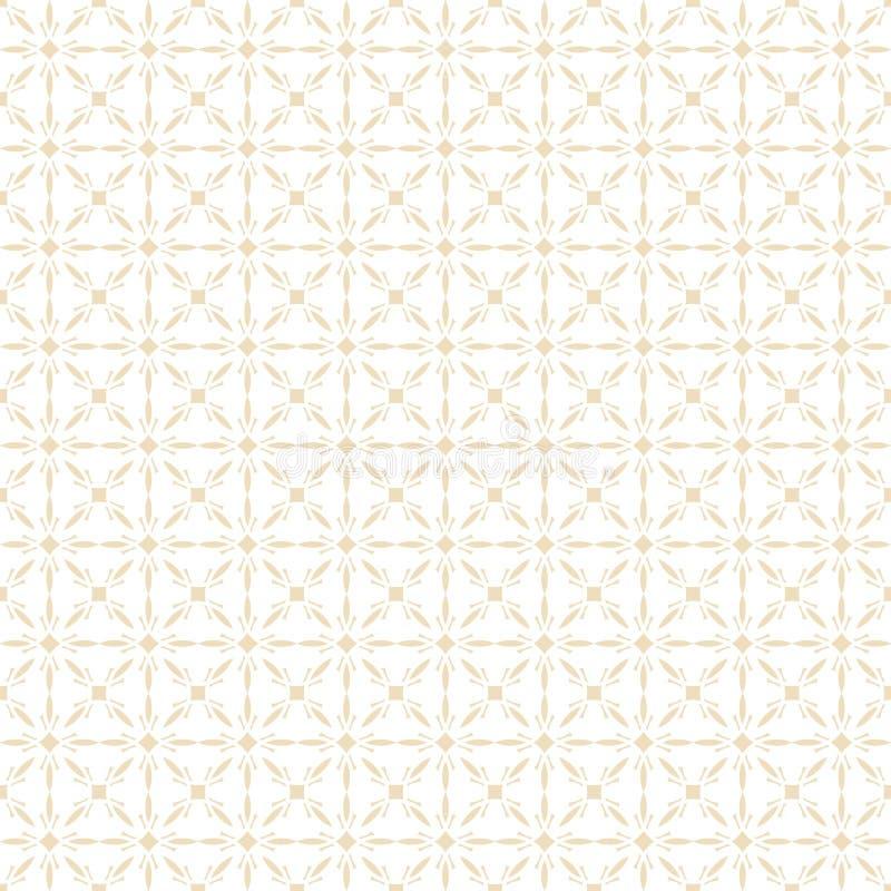 Modelo inconsútil árabe geométrico Textura islámica Fondo musulmán de oro del ornamento libre illustration