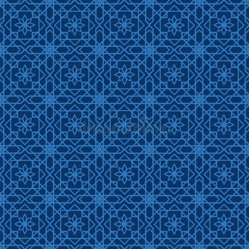 Modelo inconsútil árabe Ornamentos de Oriental del mosaico Illus del vector libre illustration