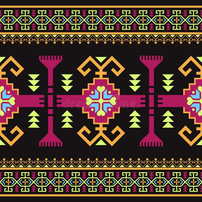 Modelo inconsútil étnico con el ornamento geométrico ilustración del vector