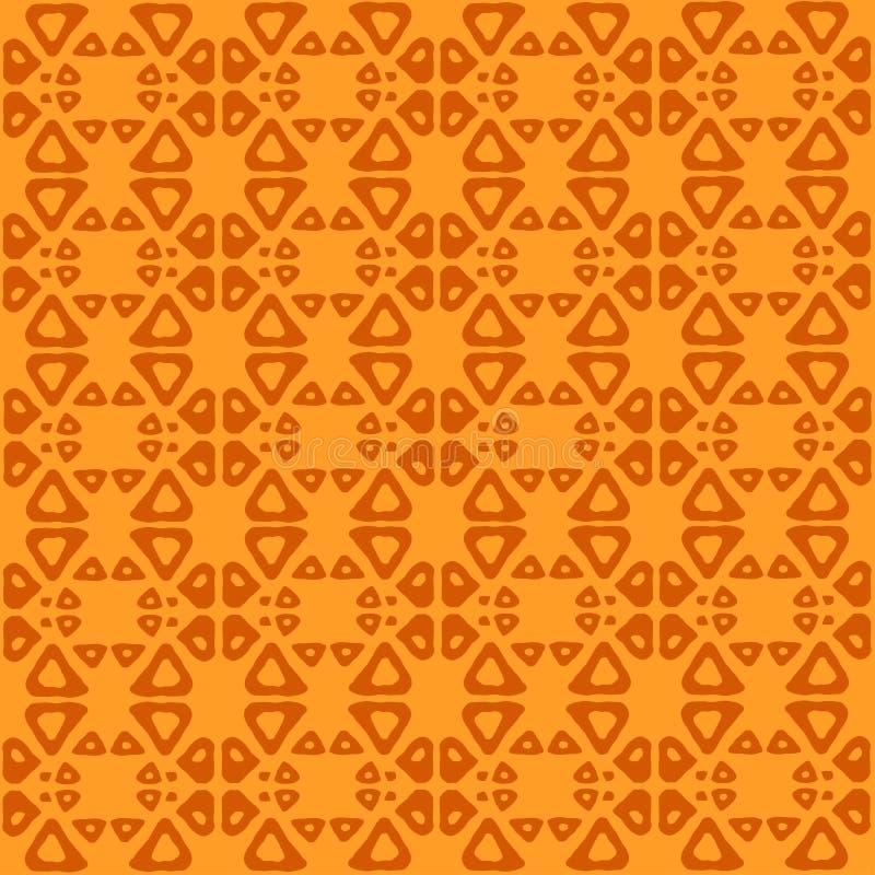 Modelo inconsútil étnico del arte tribal Gente que repite textura del fondo Impresión geométrica Diseño de la tela libre illustration
