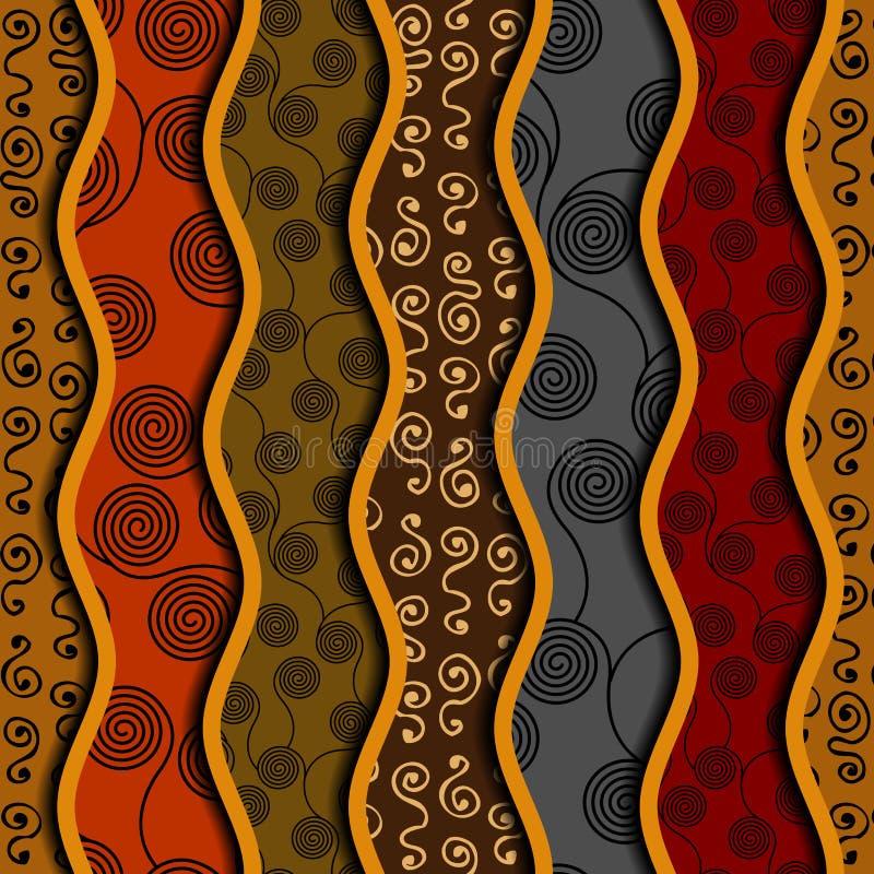 Modelo inconsútil étnico en estilo africano ilustración del vector