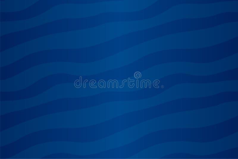 Modelo inconsútil abstracto azul con las rayas que agitan stock de ilustración