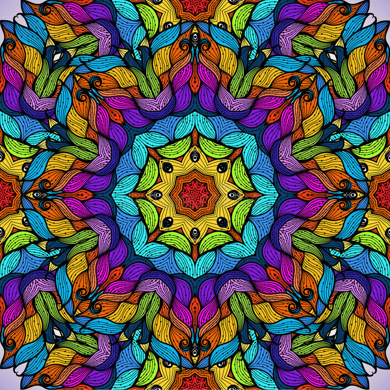 Modelo inconsútil abstracto colorido del vector. libre illustration