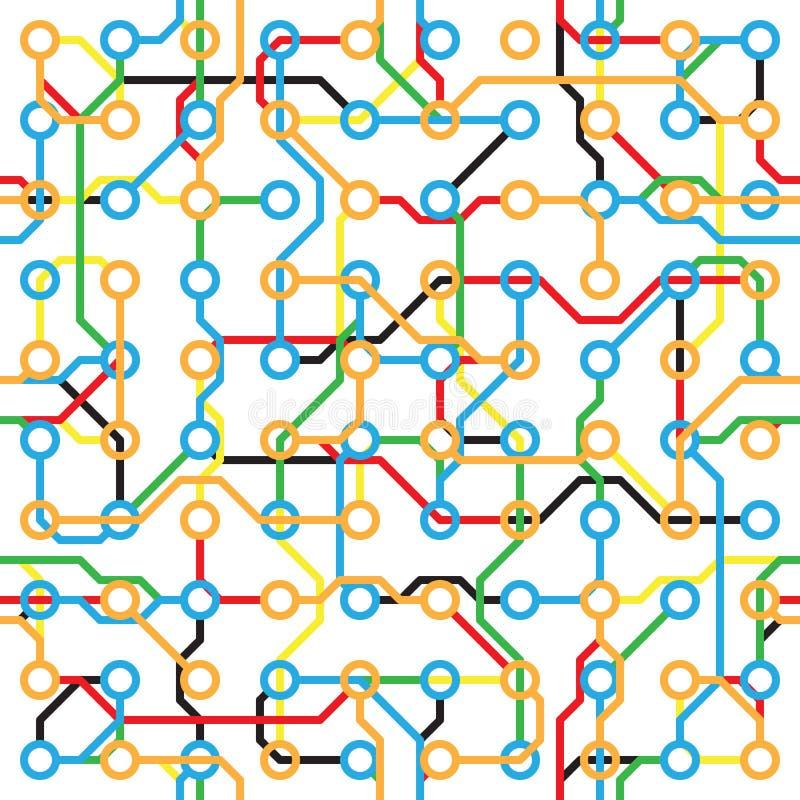 Modelo inconsútil abstracto - componentes electrónicos libre illustration