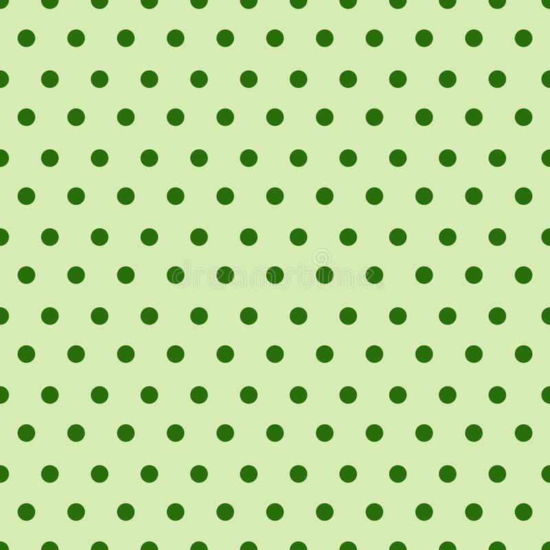 Modelo inconsútil abstracto con Dots Background Cute Ornament For verde Patrick Day Holiday ilustración del vector