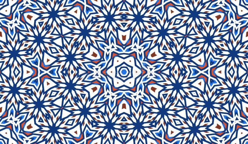 Modelo inconsútil abstracto con el caleidoscopio r libre illustration