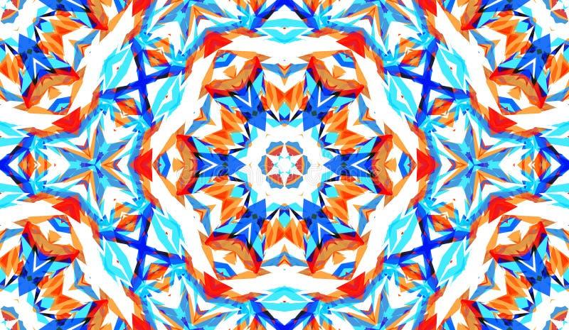 Modelo inconsútil abstracto con el caleidoscopio r ilustración del vector