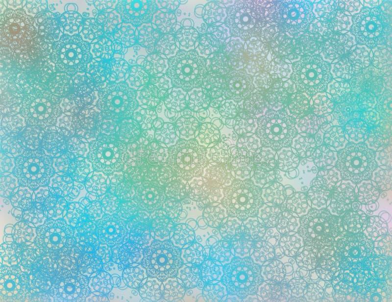 Modelo inconsútil abstracto con la línea caótica y diversos elementos de color libre illustration