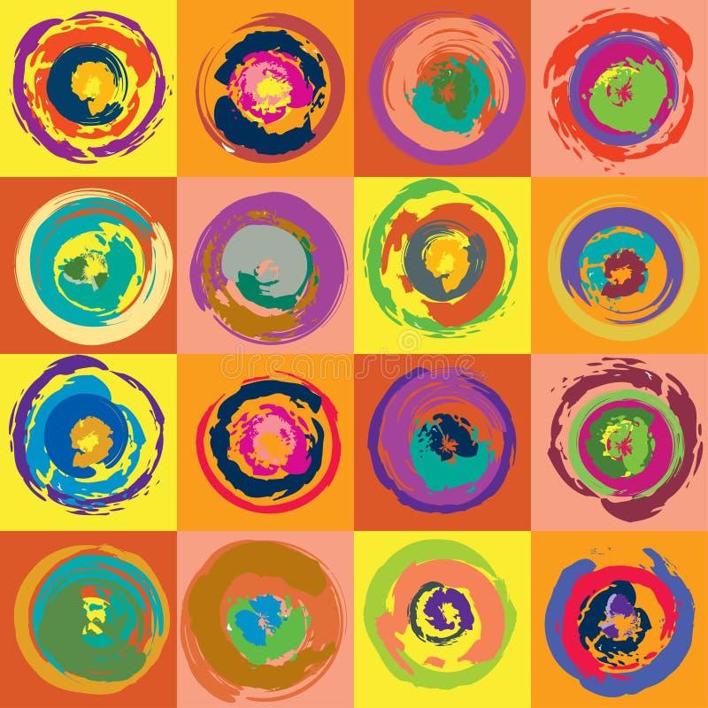 Modelo inconsútil abstracto con las bolas coloridas ilustración del vector