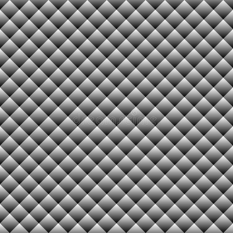 Modelo inconsútil abstracto con los cuadrados diagonales de la pendiente Textura blanco y negro simple Vector ilustración del vector