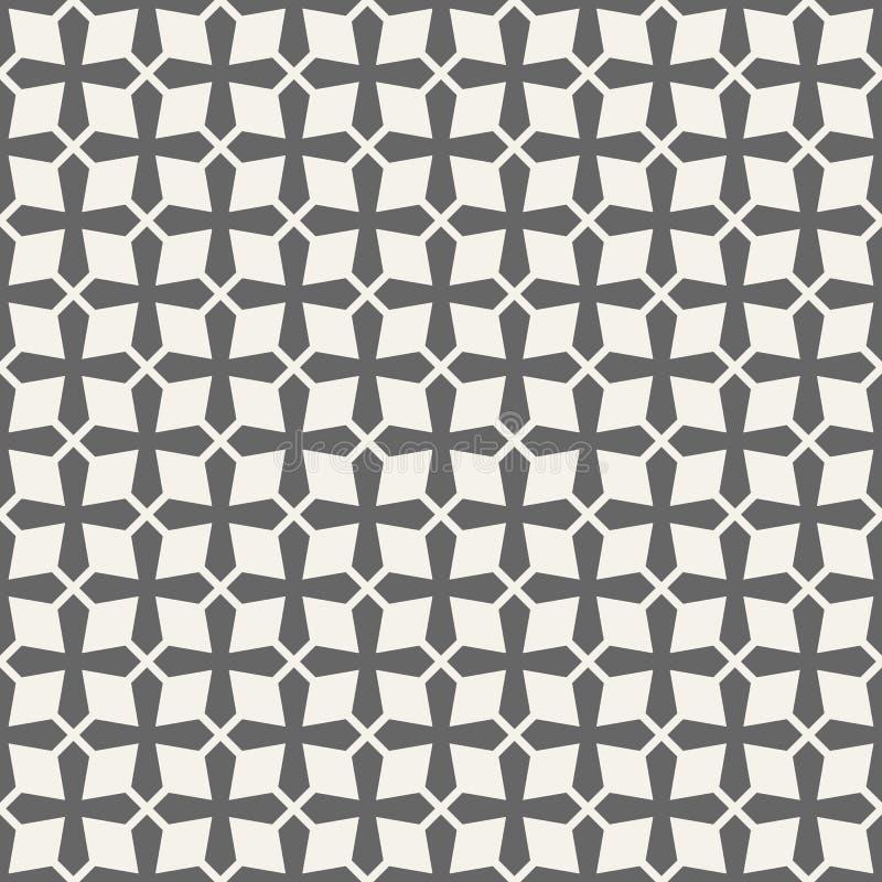 Modelo inconsútil abstracto de cruces textura con estilo moderna Enrejado geométrico ilustración del vector
