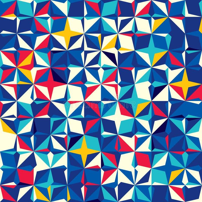 Modelo inconsútil abstracto de cuadrados y de formas diagonales stock de ilustración