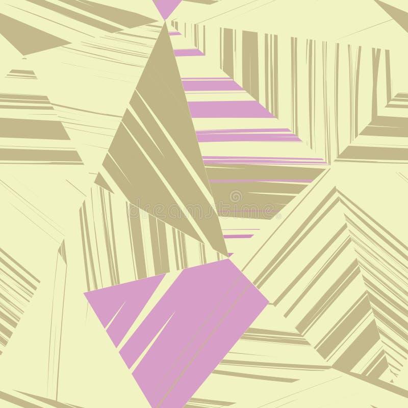 Modelo inconsútil abstracto de formas geométricas Backgro geométrico libre illustration