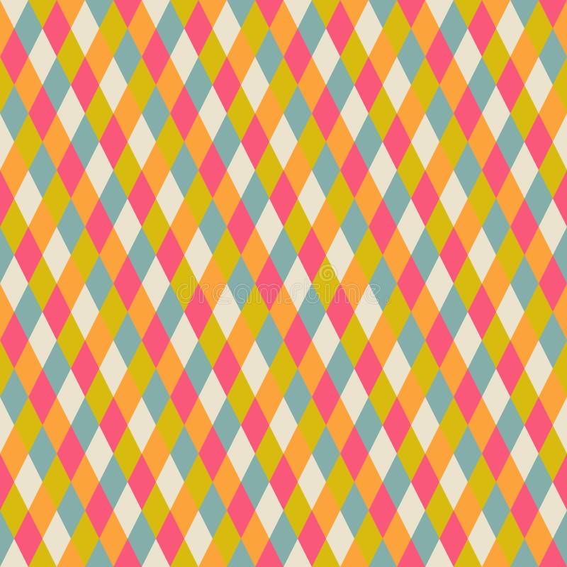Modelo inconsútil abstracto de la repetición con los rombos, geométrico inconsútil ilustración del vector