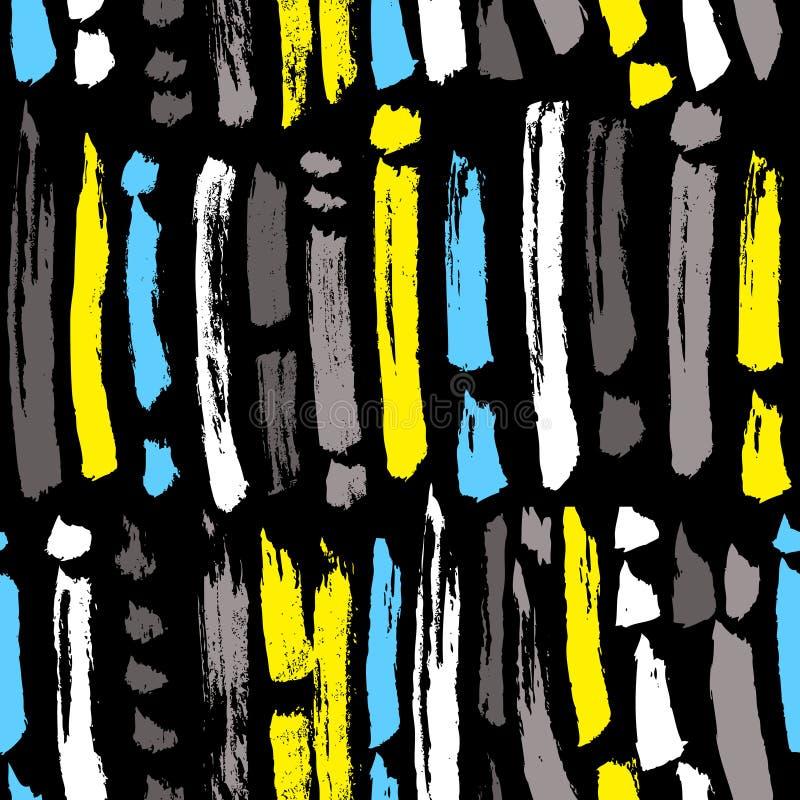 Modelo inconsútil abstracto de la tinta Fondo con las tiras artísticas a stock de ilustración