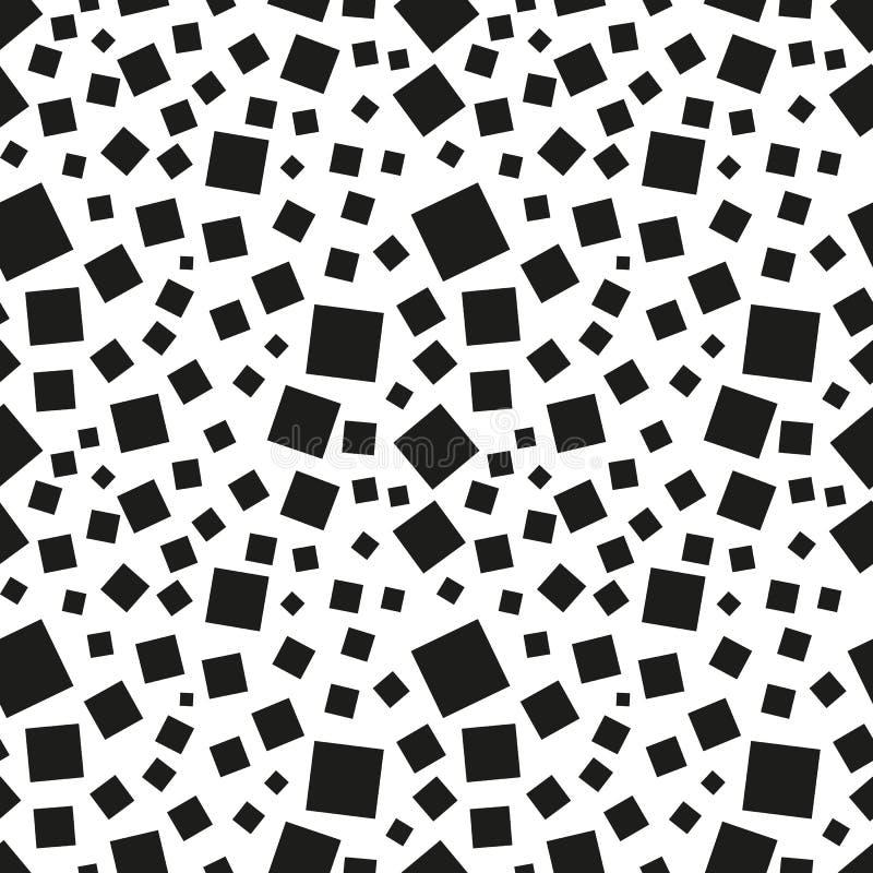 Modelo inconsútil abstracto de las casillas negras ilustración del vector