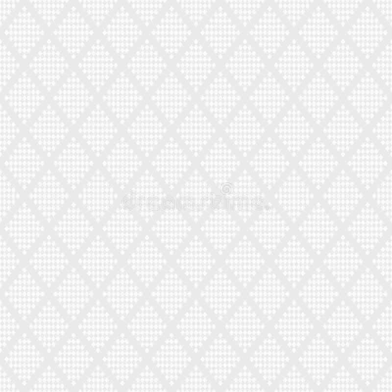 Modelo inconsútil abstracto de Rhombus a cuadros Textura geométrica blanca y gris Fondo del vector ilustración del vector