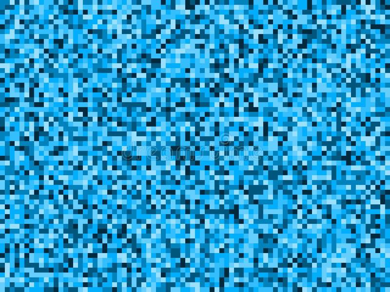 Modelo inconsútil abstracto del camuflaje del pixel del agua azul ilustración del vector
